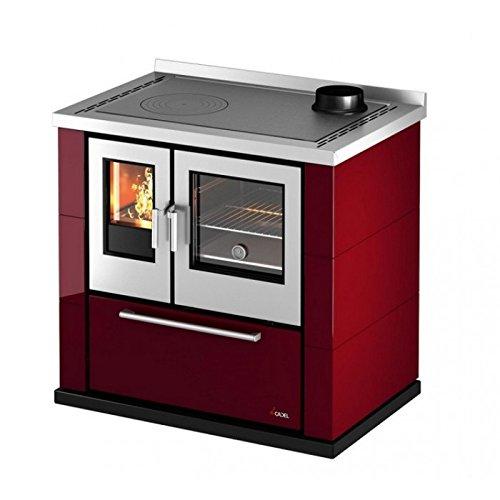 Cucina a legna 6,5 KWKOOK87 Cadel Rossa