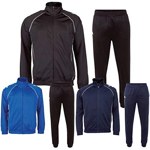 Kappa Trainingsanzug Kids Ephraim - Sport-Jogginganzug - Trainingsanzug für Fussball, Handball, Basketball, etc, Farbe:dress blue, Größe:176