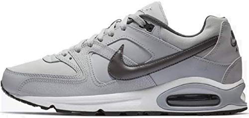 Nike Herren AIR MAX Command Leather Laufschuhe, Grau (Wolf Grey/MTLC Dark Grey/Black/White 012), 42.5 EU