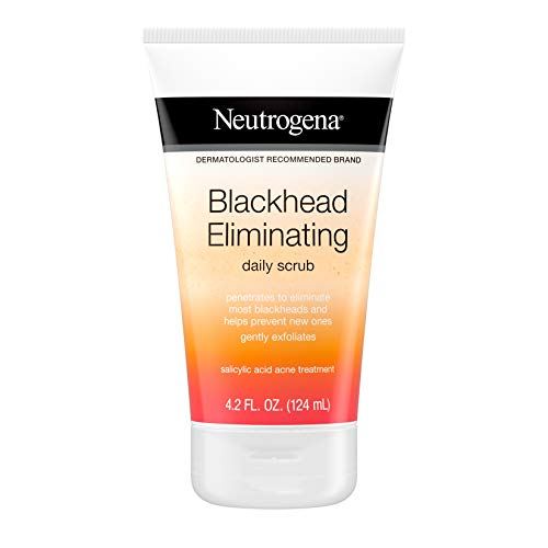 Neutrogena Blackhead Eliminating Daily Facial Scrub With Salicylic Acid Acne Medicine, Exfoliating Face Wash for Blackheads, 4.2 oz (Pack of 6)