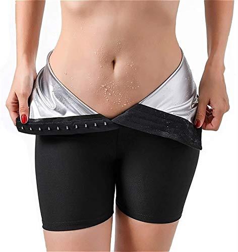 MFFACAI Mujeres Sauna Sweat Shorts Hot Fitness Capris Pantalones Leggings de Ejercicio Cintura Alta Thermo Workout Gym Pantalones Cortos (Color : A, Size : L)