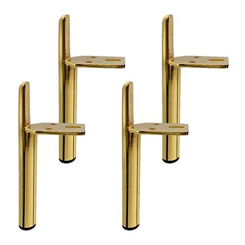 4 Stück Ersatz Möbelfüße Golden Möbel Stützbeine Eisen Möbelbeine Metallfuß für Bett Sofa und Nachttisch Küche Füße Arbeitsplatte Schreibtisch Tischbeine Möbel Beine(15cm)