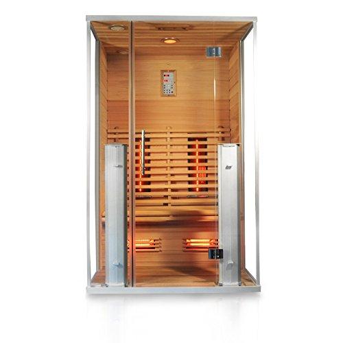 "Infrarotkabine\""Athen\"", rotes Zedernholz, Wärmekabine, Sauna, Infrarotsauna, Infrarotwärmekabine"