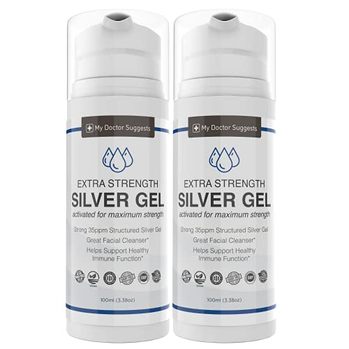 Extra Strength Silver Gel - 35ppm Silver Gel Activated for Maximum Strength Therapeutic Grade. (2)