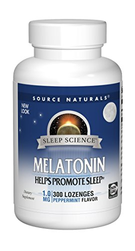 Source Naturals Sleep Science Melatonin 1mg Peppermint Flavor - 300 Lozenges
