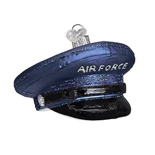 Old World Christmas AIR Force Cap Ornament, Blue