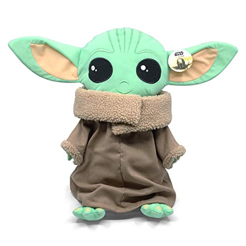 Jay Franco Star Wars The Mandalorian Stylized The Child Plush Stuffed Pillow Buddy Featuring The Child Baby Yoda - Super Soft Polyester Microfiber, 16 inch (Official Star Wars Product)