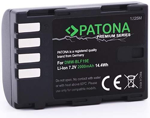 Bundlestar Patona Premium Akku für Panasonic DMW BLF19 E (echte 2000mAh) mit Infochip Intelligentes Akkusystem - Für Panasonic Lumix DC G9 GH5 DMC GH3 GH4 GH4R / Sigma BP-61 usw.