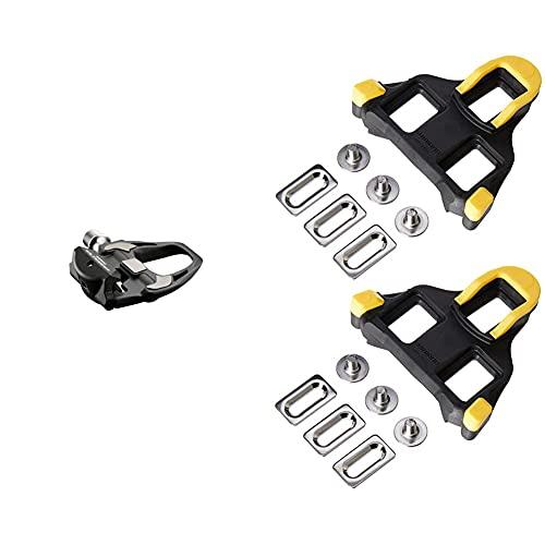 SHIMANO Ultegra Pd-R8000, Pedali,Nero & Sm-Sh11, Tacchette Pedali Strada, Nero/Giallo
