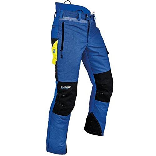 Pfanner Ventilation Schnittschutzhose Klasse 1 Gladiator Gewebe, Farbe:blau, Größe:XL
