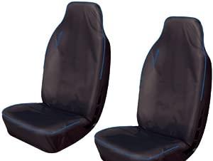 Kangoo Heavy Duty Waterproof Van Seat Covers BLACK  amp  BLUE