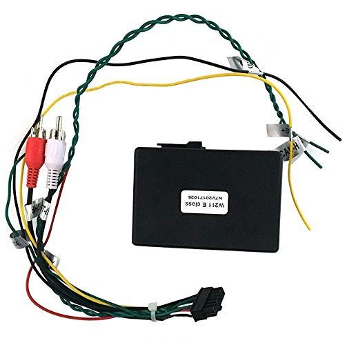 HUOGUOYIN Car Stereo Bluetooth For Fibra óptica Mercedes Benz Clase E W211 E200 E220 E230 AUX Coche decodificador Caja del Adaptador del Amplificador 2002-2012 Fascia del Coche (Color Name : Black)