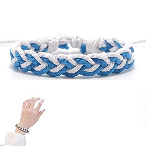 ZFAYFMA Pulsera LGBT, un Regalo para Gays, Yin Orgulloso y Collar Colgante de Yang para Lesbianas y Gay Collar de Parejas de 24 Pulgadas de la Cadena de Acero Inoxidable de Blue