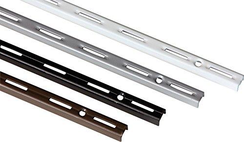 IB-Style - 2X Wandschiene Single | Einreihiges System mit 50 mm Raster | 5 Abmessungen | Länge 2 m Weiss | Wanndleiste aus Stahl für Regalsysteme