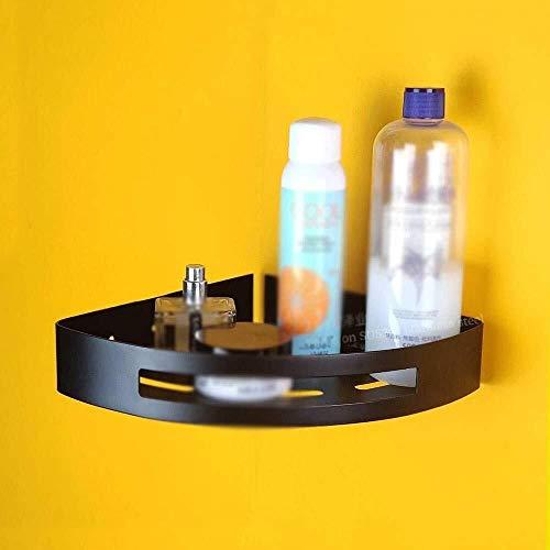 CMMT Estante de baño para ducha, estantes esquineros, de acero inoxidable, estante de ducha montado en la pared, cesta de ducha de 2 niveles, color negro, con 2 ganchos (color: capa)