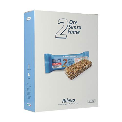 Rilevo-2 Ore Senza Fame-12 Confezioni di Spezzafame con Semi, Cereali soffiati-farro, miglio, amaranto, grano Khorasan-, Miele italiano, mandorle, fiocchi d'avena, noci, quinoa soffiata- 12x25g