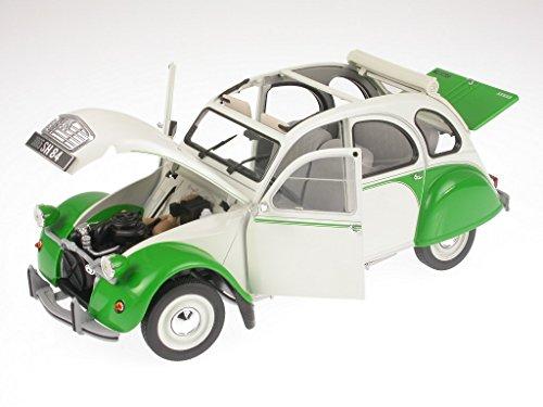 Citroen 2CV Dolly Ente 1985 weiß-grün Modellauto 181512 Norev 1:18