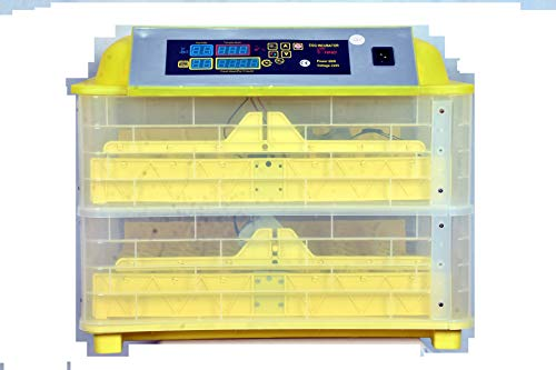 TM&W Fully Automatic Mini Incubator Motor 220V Auto Egg Turn the Eggs Motor 112 Quail, 308 Egg Hand-Made Incubator (with Chicken Trays Only)