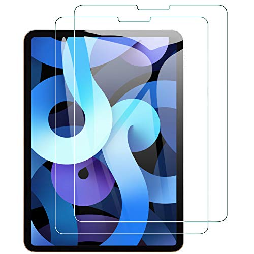 AMOVO iPad Air (第四世代) 用 フィルム 10.9インチ 日本旭硝子材 2.5D ウンドエッジ加工 9H 防塵 防滴 iPad Air 4 向けの 液晶保護フィルム (透明 2枚セット)