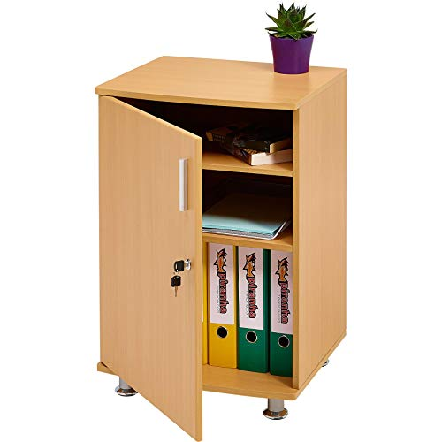 Storage Cabinet Cupboard and Desktop Extension to in Beech Match Range of Piranha Home Office Furniture - Bowfin PC 4b