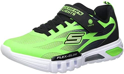 Skechers Kids Boys Flex Glow Dezlo Sneaker Lime Black 8 Medium US Toddler product image