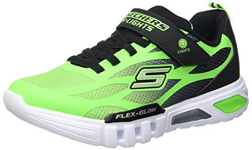 Skechers Flex-Glow DEZLOM, Zapatillas Niños, Verde Lima, 30 EU