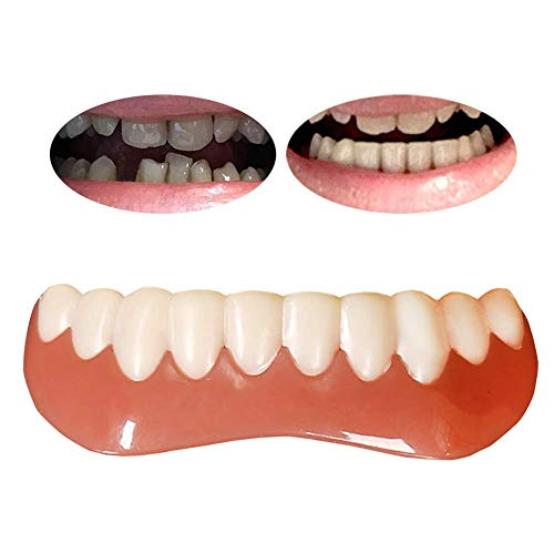 Quick Zahnersatz Zahnprothese Unterkiefer Kosmetik Zähne Perfect Smile Zähne Unten, Natürliche Bequeme neue Quick Zähne für perfekte Zähne und Lächeln