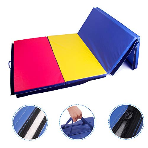 Polar Aurora 4'x8'x2 Multipe Colors Thick Folding Gymnastics Gym Exercise Aerobics Mats Stretching Fitness Yoga 10 Colors (4 Colors)