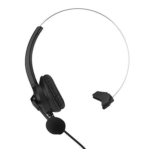Brusreducerande Call Center-headset Bekvämt med förlustfritt ljudtelefonheadset för kundtjänst(3,5 mm rak)