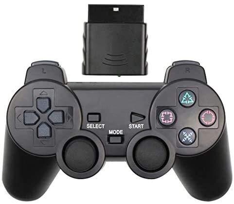 Dujie Mango Gamepad Moblie Juego Mando inalámbrico de PS3 Gamepad for Playstation3 Seis Ejes inalámbrico PS3 Palanca de Mando QPLNTCQ (Color: Azul Claro, Tamaño: 1) ( Color : Black , Size : 1 )