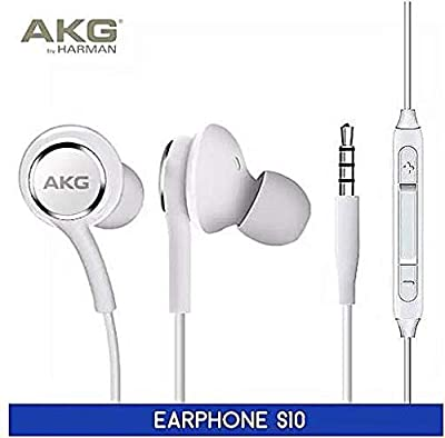 NEW AKG Headset by ShirazO Headphone, Earphone for Samsung Galaxy S10 S10+ S10plus,Galaxy S9 S9 Plus S9 Duos S9 Duos+ S8 S8 Plus S8 Active S7 S7 Edge S6 S6 Edge A8 2018 A8 Plus Note 8 Black (White)