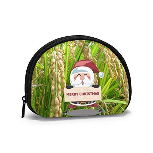 Oxford Cloth Organic Golden Rice Landscape Weihnachtsmünze Geldbörse Kleine Reißverschlusstasche Geldbörse Tasche Mini Cosmetic Makeup Bags Organizer Mehrzweckbeutel