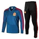 AWMSSR Fútbol para Hombres Adultos, Entrenamiento de fútbol, Ropa Deportiva, Camiseta de fútbol, Traje Deportivo de Manga Larga -507-azul_S