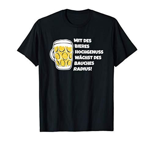 Bier Gedicht Bier Trinker Bierbauch Bierliebhaber Geschenk T-Shirt