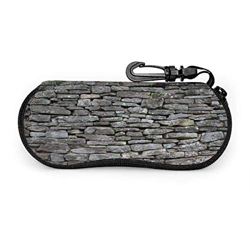 Eyeglasses Case Vintage Stone Wall Grey Spectacle Case Box Scratch-resisted Portable Travel Sunglasses Holder Clamshell