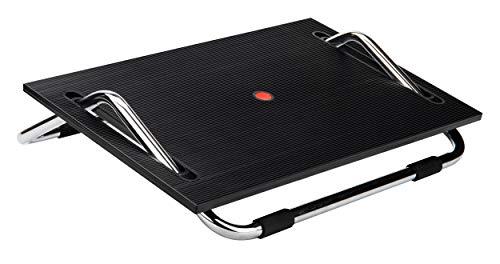 Mind Reader Seesaw Adjustable Footrest for Under Desk, Ergonomic Tilting Design, Non-Slip Surface, Customizable Angles, Black