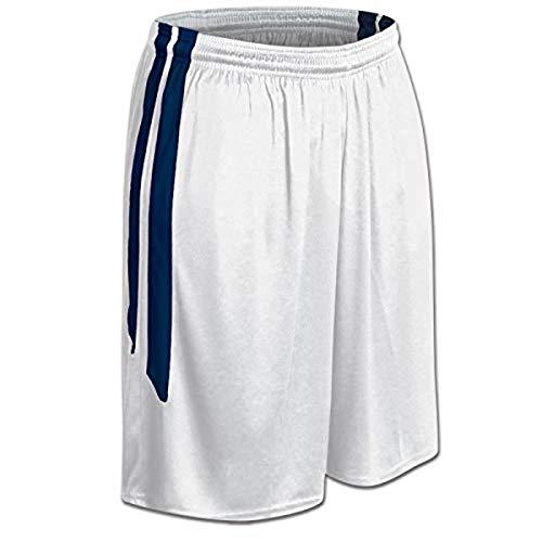 Champro Dri Gear Basketball-Shorts aus Polyester, für Damen, Größe XL, Weiß, Marineblau