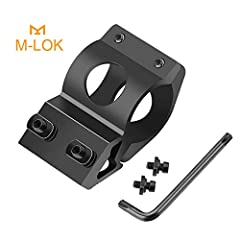 """100% CNC Machined out of 6061 billet aluminum,lightweight and sturdy. 1"""" Flashlight mount: 1"""" internal diameter fits any 1"""" Flashlight. Perfect M-lok attachment point: Designed to fit any m-lok rail. Mount can be placed at 1, 5, 7, and 11 o'clock pos..."""