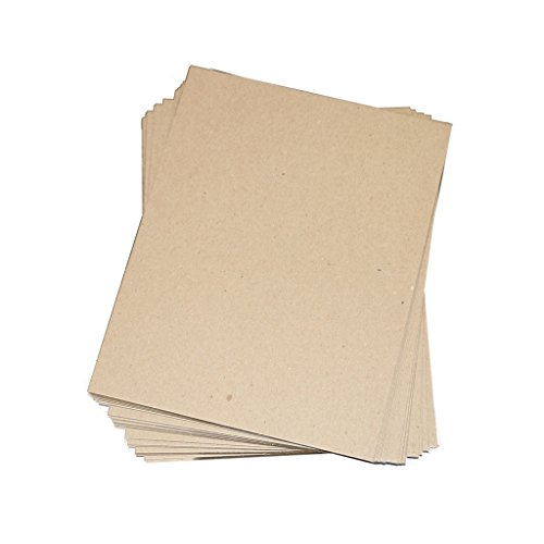 """Secure Seal 8.5x11 Chipboard Pads Brown Scrapbooking Sheets 22PT (.022"""") Light Weight (Pack of 200)"""