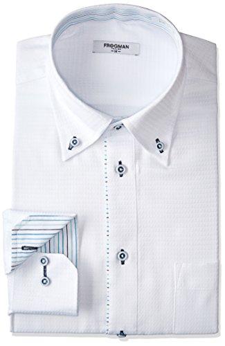 [アトリエサンロクゴ] デザインワイシャツ 長袖 ワイシャツ Yシャツ 形態安定 快適 ビジネスシャツ sun-ml-sbu-1109 メンズ トリプルボーダー LL(43) スマート