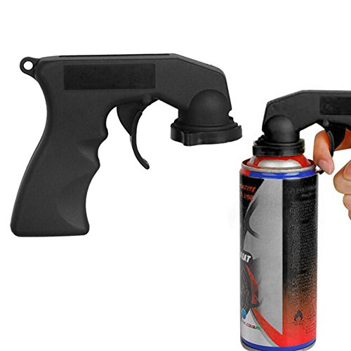 Demiawaking Pistola a Spruzzo Vernice Aerosol Impugnatura per Bombolette Spray Adattatore Spray in Plastica Pistola a Spruzzo Maniglia per Verniciare Auto