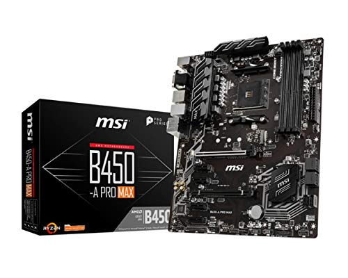 MSI ProSeries AMD Ryzen 2ND und 3rd Gen AM4 M.2 USB 3 DDR4 D-Sub DVI HDMI Crossfire ATX Motherboard (B450-A Pro Max) (B450APROMAX)