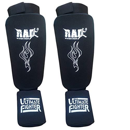 2Fit Parastinchi Junior Serior Kickboxing Muay Thai MMA Parastinchi gambali e piedi protettore (nero, medio)