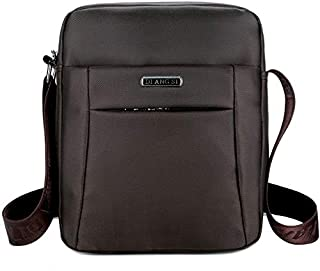 DIEBELLAU Fashion Waterproof Oxford Cloth Shoulder Messenger Bag Outdoor Simple Travel Men's Backpack (Color : Brown)