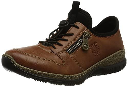 Rieker Damen N32G0 Sneaker, braun / 24, 38 EU