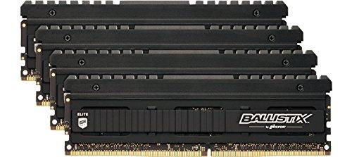Ballistix Elite BLE4K4G4D30AEEA 16GB (4GBx4) Speicher Kit (DDR4, 3000 MT/s, PC4-24000, CL15, Single Rank x8, DIMM, 288-Pin)