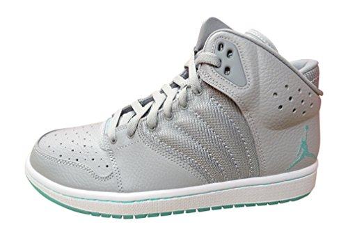 Nike Jordan 1 Flight 4 Prem, Scarpe da Basket Uomo, Gris (Wolf Grey/Hyper Turq-White), 44 1/2 EU