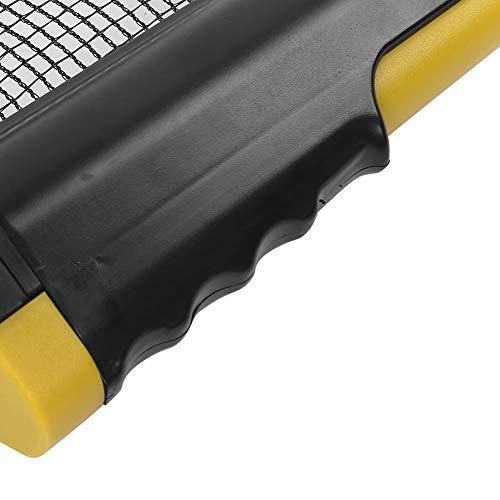 Redxiao Rack de Red de Tenis de Mesa Que Ahorra Espacio, Red de Tenis de Mesa retráctil Ajustable, Red de Tenis de Mesa telescópica para Juegos de Interior al Aire(Wavy Yellow Black)