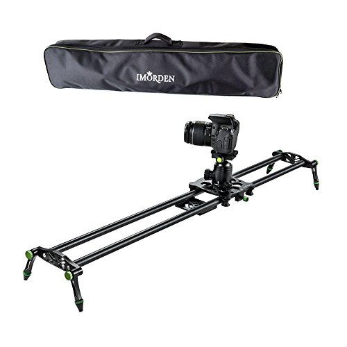 IMORDEN 32'/80cm Carbon Fiber Video Stabilization Camera Slider(Up to 6kg/13.2lbs) DSLR Rail Dolly Track Film Making Kit for Youtuber, Works with Canon, Sony, Nikon Camera,Phone, Gopro and Tripod
