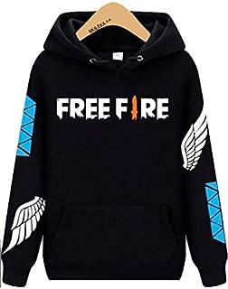Moletom Canguru Preto Free Fire Angelical Jogador
